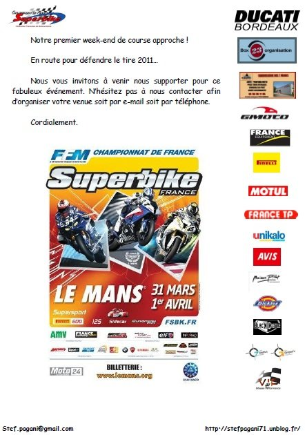 Le Mans 31 Mars - 1er Avril dans Team Invitation-Le-Mans
