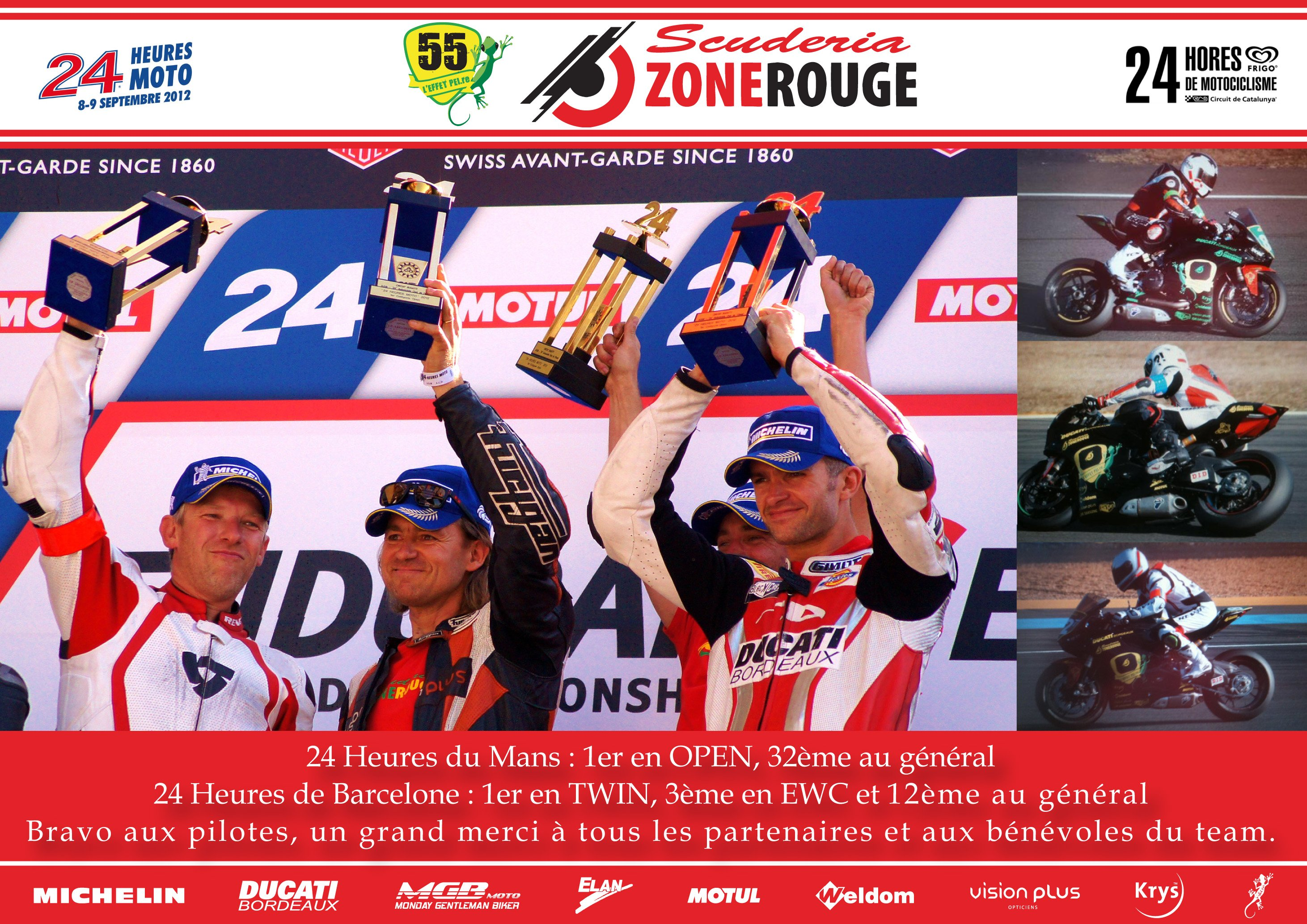 Le team ScuderiaZoneRouge sur le podium des 24H du Mans. dans Team 2012-09-11-CR